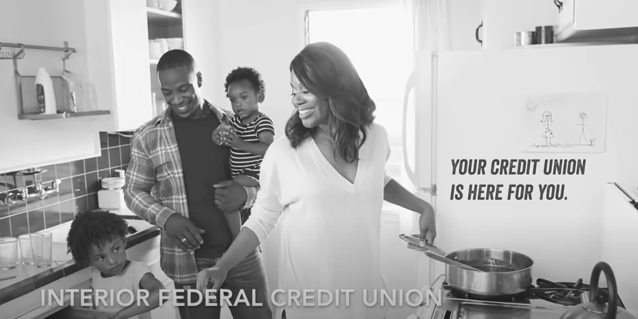 An advertisement from a credit union